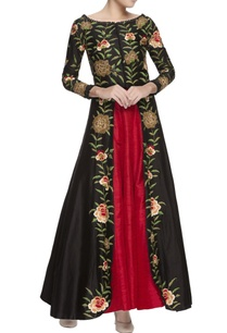 black-embroidered-jacket-lehenga