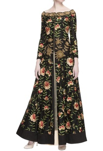 black-chanderi-silk-embroidered-jacket