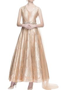 peach-metallic-cutwork-gown