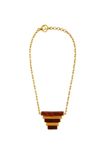 gold-necklace-with-handcrafted-wood-accents