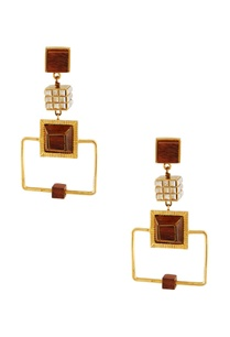 gold-dangling-earrings-with-wood-accents