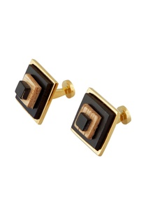 gold-handcrafted-wood-cufflinks