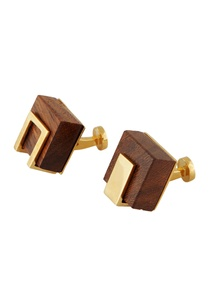 gold-cufflinks-with-handcrafted-wood-cubes