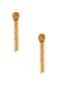 gold-plated-tassel-earrings
