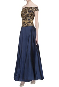 black-blue-zari-embroidered-gown