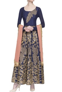navy-blue-hand-embroidered-kurta-set