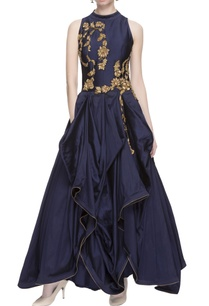 navy-blue-gathered-gown