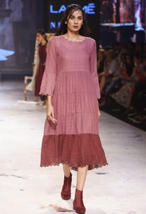 burgundy-embroidered-flared-dress