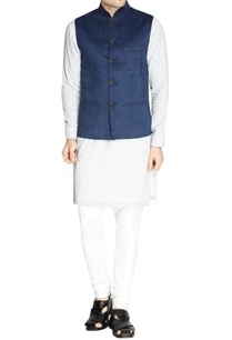blue-nehru-jacket-with-antique-buttons-set