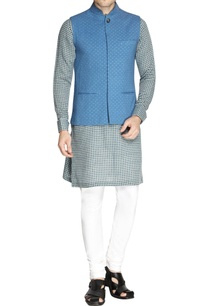sky-blue-printed-nehru-jacket-set