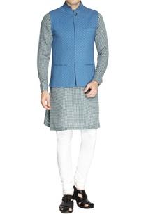 sky-blue-printed-nehru-jacket-set