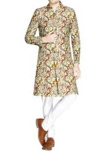 multicolored-printed-raw-silk-sherwani