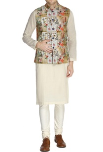multicolored-parisian-printed-nehru-jacket-set
