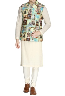 multicolored-abstract-printed-nehru-jacket-set