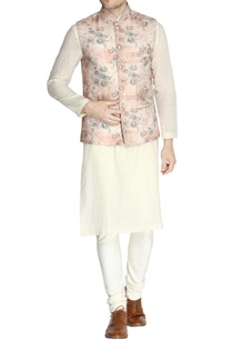 rose-pink-floral-print-nehru-jacket-set