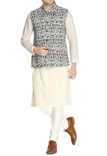 multicolored-printed-nehru-jacket-set
