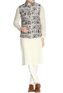 grey-printed-nehru-jacket-set