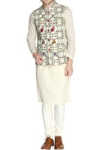 multicolored-floral-themed-nehru-jacket-set