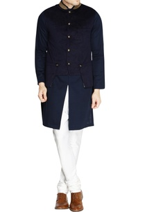 navy-blue-velvet-nehru-jacket-set