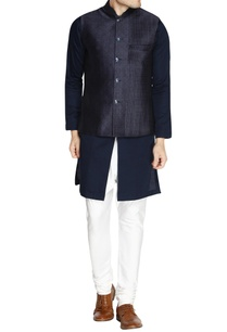 navy-blue-printed-nehru-jacket-set