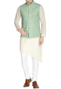 mint-green-printed-nehru-jacket-set