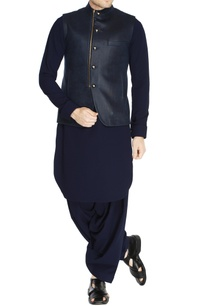 blue-zipper-style-nehru-jacket-set