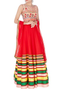 red-kutchi-anarkali-dupatta