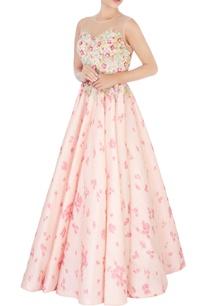 pink-floral-tissue-silk-gown
