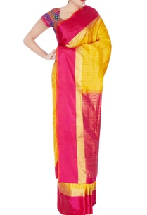 yellow-pink-mulberry-silk-sari