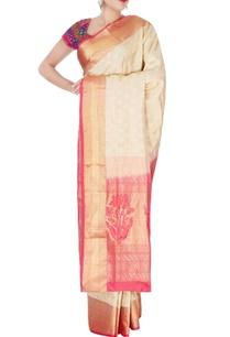 beige-mulberry-silk-kanchipuram-sari
