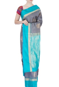 grey-kanchipuram-mulberry-silk-sari