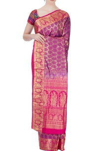 purple-floral-mulberry-silk-sari