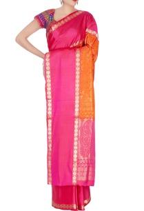 orange-mulberry-silk-kanchivaran-sari