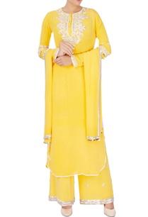yellow-embroidered-kurta-set