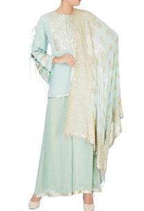 blue-embroidered-short-kurta-set