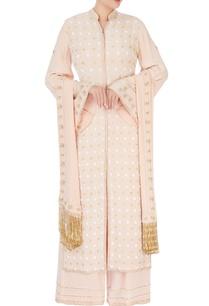 beige-pearl-embroidered-kurta-set