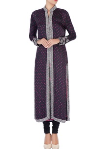 black-bandhani-jacket-kurta-set