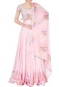 pink-floral-printed-lehenga-set