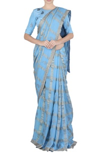 sky-blue-mango-butta-sari-blouse