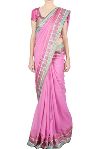 pink-jaal-work-sari-blouse