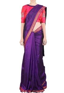 pink-sari-peacock-motif-blouse