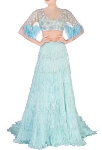 aqua-blue-sequin-and-feather-design-lehenga
