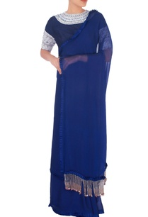 navy-blue-sari-with-ruffle-edges
