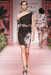 black-dress-with-floral-panel