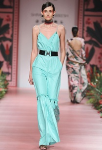 aqua-blue-flared-jumpsuit