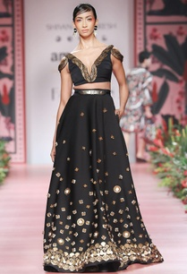 black-embellished-flared-lehenga
