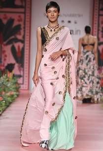 pink-green-skein-work-sari