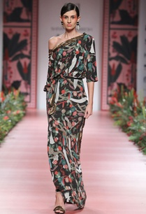 multicolored-printed-dress-with-embellishment