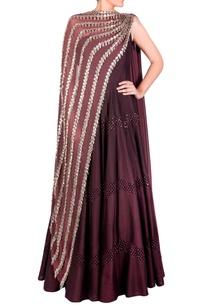 burgundy-dual-drape-anarkali-gown