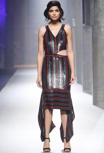 multicolored-stripe-sequin-dress